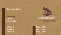 Brown Messenger Service Business Card Template